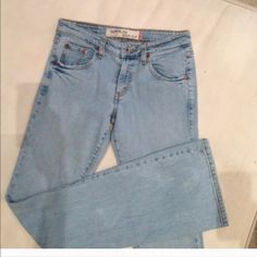 "Levi's Light blue Levi's boot cut 33"" inseam please note in 4th picture has scuffing on cuff Levi's Jeans Boot Cut"