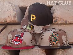 Desert Camo Custom 59Fifty Fitted Caps By NEW ERA @ HAT CLUB