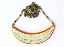 Sweet Beastiary - botanical inspired necklace