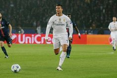 Cristiano Ronaldo of Real Madrid FC in action during the UEFA Champions League between Paris SaintGermain and Real Madrid CF at Parc Des Princes on...