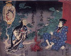 東海道四谷怪談(歌川国芳)Woman ghost Oiwa