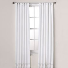 Real Simple Boden 84-Inch Window Panel Pair in White - BedBathandBeyond.com
