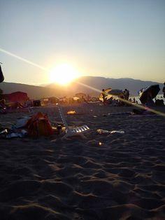 Sunset in Nei Pori, Greece