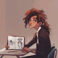 Zendaya, Marvel Women, Marvel Girls, Pretty Art, Cute Art, Spiderman Movie, Spiderman Marvel, Marvel Fan Art, Black Girl Art