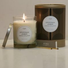 nicerworld.com - KOBO Candles - Filament Collection - Opoponax Amber