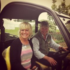 Jayne the LAS Director and Richard the Show Director take a trip around the Showground before Show opens.