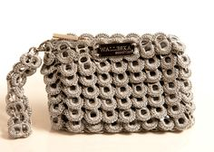 ecochicc — ELM 11 Petal Opera (7x5) made from handmade recycled aluminum pop top pull tabs (170)