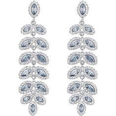 f3fb8a89c Baron Pierced Earrings, Blue, Rhodium Plating - Swarovski, 5074350 Pierced  Earrings, Clear