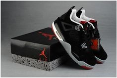 147a1174a3b34 Buy Low Cost Air Jordan 4 Cemenst Retro Mens Shoes Engraved Black Red Big  Discount from Reliable Low Cost Air Jordan 4 Cemenst Retro Mens Shoes  Engraved ...