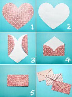 heart envelop, idea, envelopes, stuff, crafti