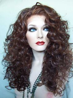 Synthetic Futura Lace Front Wig - Highlighted Brown