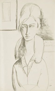 'jeanne hébuterne' by amedeo modigliani Amedeo Modigliani, Drawing Sketches, Art Drawings, Famous Artists, Art Sketchbook, Figure Drawing, Painting Inspiration, Illustration Art, Lawrence Lee