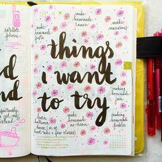 Page développement personnel : Les choses que j aimerais essayer