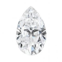 Forever One 0.12CTW Pear Colorless Moissanite Gemstone