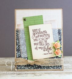 Card by Laurie Willison using Verve Stamps.  #vervestamps