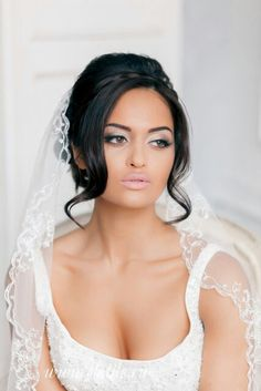 Beautiful Bridal Updo with Veil #wedding #hair