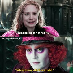 Alice Movie, Johnny Depp Mad Hatter, Mad Hatter Quotes, Citations Film, Tim Burton Films, Alice And Wonderland Quotes, Dream Quotes, Through The Looking Glass, Film Quotes