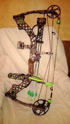Lime green and lost camo.. perfect match.. Mathews Jewel.. and I own the gorgeous bow..