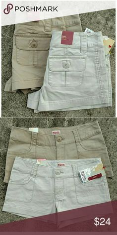 """2 pair NWT Mossimo shorts. Size 3 You get BOTH pair for one price! New with tags. Same style. Size 3 Waist 27"""" Rise 7.5"""" Inseam 2.5"""" Mossimo Supply Co Shorts"""
