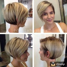 Shadow Blonde Bob ... by @dillahajhair #shadowroot #behindthechair