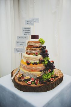 cheese wedding cake - Suzanne Neville Elegance For A Yorkshire and Downton Abbey Inspired Wedding