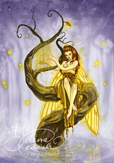selina fenech Firefly's Song fairy art. Happy Fairy Day, June 24th, from Faery Ink Press! (faeryinkpress.com).