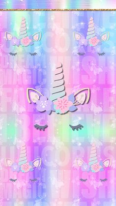 Obsessed with these wallpapers. The colors, the florals, the unicorns, & everything else — They're screaming my name! Unicorn Wallpaper Cute, Chevron Wallpaper, Butterfly Wallpaper Iphone, Rainbow Wallpaper, Cartoon Wallpaper, Mobile Wallpaper, Wallpaper Quotes, Iphone Wallpaper, Unicorn And Glitter