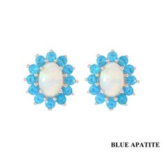 SS Ethiopian Opal and Your Choice of Gemstone Earrings