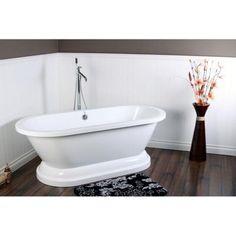 MASTER BATH - Aqua Eden 5.6 ft. Acrylic Double Ended Pedestal Tub in White-HVTPE672824P - The Home Depot