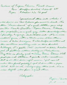 Papier Plume Forest Green Fountain Pen Ink Review