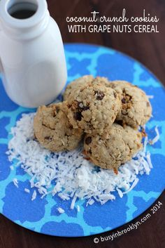 Grape Nut Coconut Crunch Cookies - the perfect cookie that's chewy & crunchy & salty & sweet!