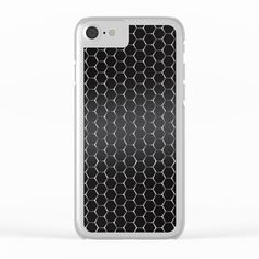 Metal Honeycomb Grid Background Pattern Clear iPhone Case