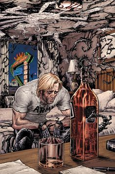#Agent #Venom #Fan #Art. (Venom Vol.2 #11 Cover) By: Tony Moore & Morry Hollowell. (THE * 5 * STÅR * ÅWARD * OF: * AW YEAH, IT'S MAJOR ÅWESOMENESS!!!™) ÅÅÅ+