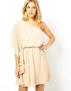 Image 1 ofASOS One Shoulder Drape Dress