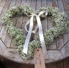 Romantic Gypsophila heart
