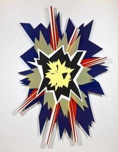 Roy Lichtenstein, Explosion II (1965), Enamel on steel, 88 × 60 × 4 1/2 in