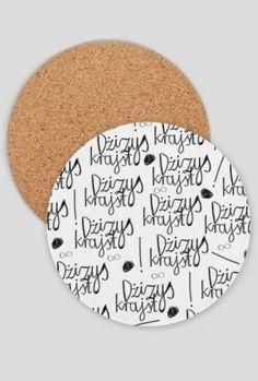 Znowy rozlałeaś?  {podkładki na kubek}  #WyraźSię #drawing #kredka #kubek #podkładki #crayons #black #white