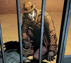 The new unknown Rorschach . He seems to be calmer than the Walter Kovacs