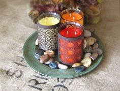 Moroccan Inspired Faux Metal Candle Wraps | 16 DIY Crafts for Fall
