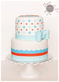 Blue & orange baby cake