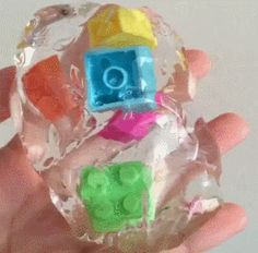 This looks really cool, but I wouldn't put Legos in it just bc it would kind of take away the effect of it being squishy??
