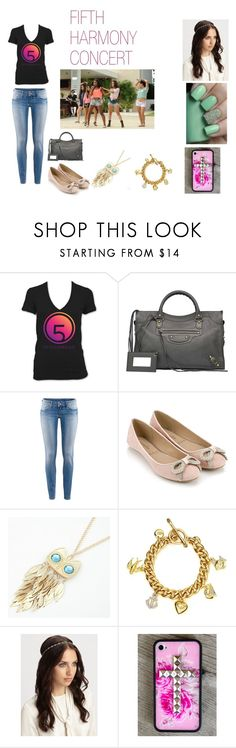 """""""FIFTH HARMONY CONCERT"""" by gwenhernandez2 ❤ liked on Polyvore featuring Balenciaga, H&M, Accessorize, Retrò, Juicy Couture, Jennifer Behr, fifth harmony, lauren, ally and dinah"""