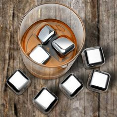 Final Touch Hard Ice Stainless Steel Ice Cubes  These stainless-steel cubes never melt, providing more flavorful and colder drinks.