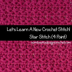 """Let's Learn a New Crochet Stitch! Today we learn how to crochet the start stitch. This stitch is also called the Marguerite Stitch. Here is a handy photo tutorial and a pattern for an 8"""" square."""