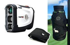 Bushnell Tour V4 (Standard Version) Patriot Pack with Magentic Golf Rangefinder Cart Mount (Black) Bundle   Includes Case, Blue Protective Skin and One (1) CR2 Battery *** Click on the image for additional details.