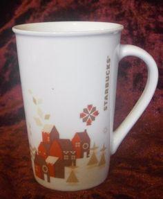 Starbucks Mug Tall Winter Village Microwave And Dishwasher Safe Coffee Tea