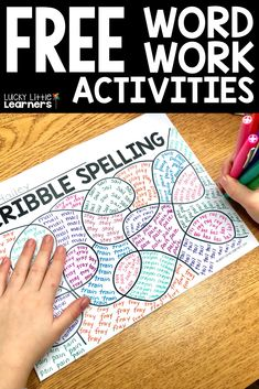 Tired of the same boring ways to practice spelling words? Scribble spelling is a fun way for students to practice their weekly phonics patterns. They dont get sick of practicing them either! Spelling Word Activities, Spelling Word Practice, Spelling Worksheets, Word Work Activities, Spelling Centers, Grade 3 Spelling Words, Spelling Games For Kids, Word Work Games, Spelling Ideas