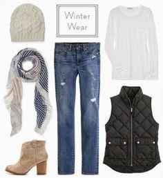 layered winter wear