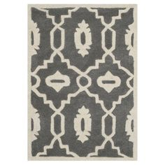 Safavieh CHT745D Chatham Dark Grey and Ivory Area Rug  Chatham Dark Grey and Ivory Area RugThe Chatham collection by Safavieh contrasts ancient Moroccan
