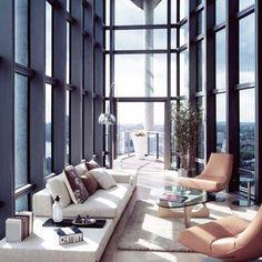 stylish living // urban apartment // city suites // luxury life // urban men // city boys // interior // home decor // city view //